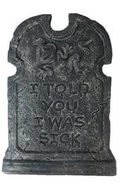 Надгробие с привидением