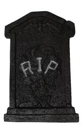 Черное блестящее надгробие RIP