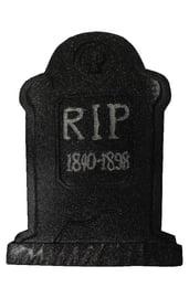 Декоративное черное блестящее надгробие