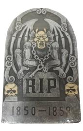 Декоративное надгробие с дьяволом