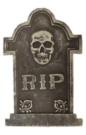 Декоративное надгробие RIP с черепом