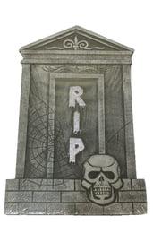 Надгробие с паутиной и скелетом