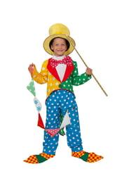 Детский костюм клоуна с желтой шляпой