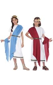 Детская римская тога двух цветов