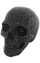 Черный блестящий череп