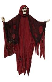 Декорация Красный Скелет в балахоне