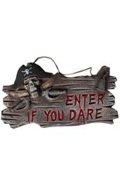 Вывеска Пиратское предупреждение