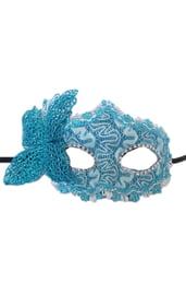 Голубая маска с бабочкой