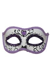 Сиреневая маска День Мертвых
