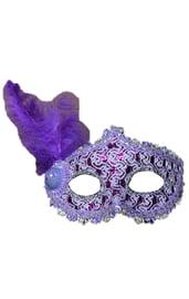 Фиолетовая маска с пером