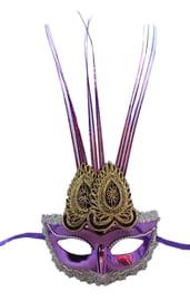 Фиолетовая маска с украшением