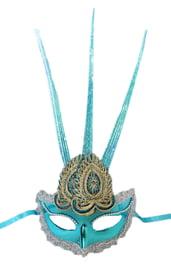 Голубая маска с украшением
