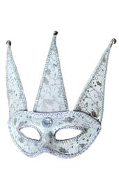Серебристая маска Арлекина