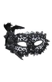 Черно-белая нарядная маска