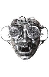 Серебряная маска Стимпанк в очках