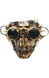 Золотая маска Скелет Стимпанк
