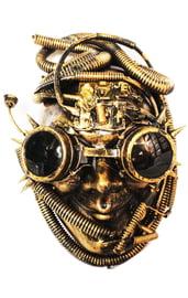 Золотая маска Киборга Стимпанк