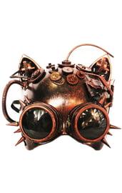 Бронзовая маска кошки Стимпанк