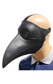 Черная маска чумного доктора
