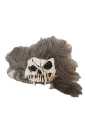 Маске черепа с волосами