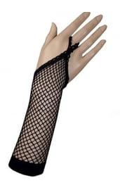 Черные перчатки в сеточку
