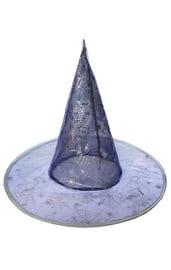 Шляпа ведьмы фиолетовая с паутиной