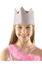 Розовая блестящая корона
