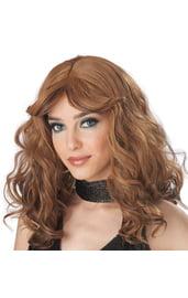 Парик Шатенки с волнистыми волосами