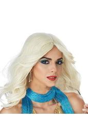 Диско парик Платиновая блондинка