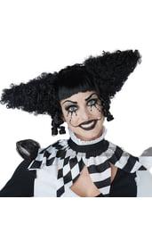 Черный парик клоуна