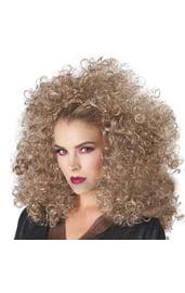Кудрявый парик на ободке