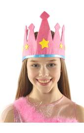 Детская розовая корона
