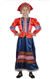 Детский народный костюм красно-синий