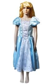 Детский голубой костюм принцессы