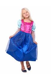 Детское розово-синее платье принцессы