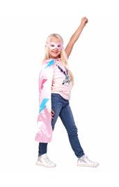 Розовый плащ и маска Супергерл