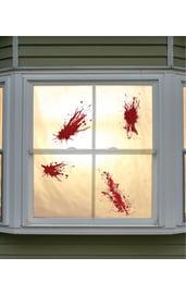 Наклейка на окно Пятна крови