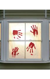 Наклейка на окно Кровавые отпечатки
