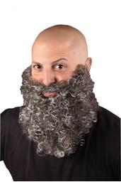 Серая кудрявая борода