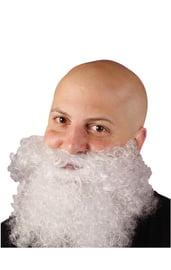Белая кудрявая борода