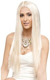 Длинный белый парик