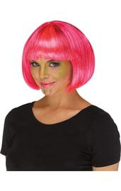 Розовый парик инопланетянки