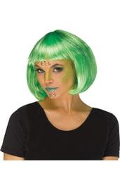 Зеленый парик инопланетянки