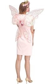 Прозрачные розовые крылья феи