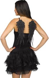 Черные мини-крылья ангела