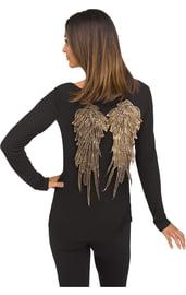 Золотистые мини-крылья ангела