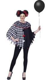Черно-белое пончо клоуна