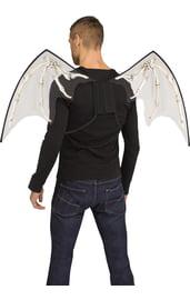 Прозрачные черные крылья с костями