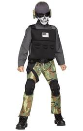 Детский костюм Спецназовца с черепом
