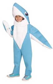 Детский бело-голубой костюм акулы